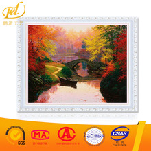 new design yes frame picture Autumn maple leaves paint by number nudes making machine diy oil painting PD(D)(52)