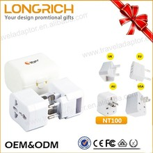 OEM/ODM Simple Birthday Gift Multi Usb Port 2 Round Pin To 3 Pin Adapter Plug