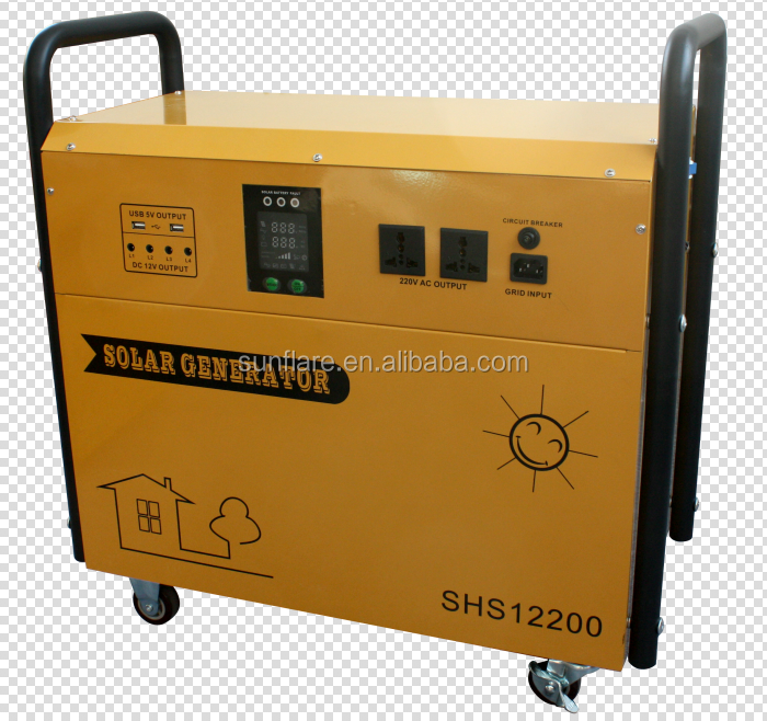 low cost Solar powered generator for home in power shortage area
