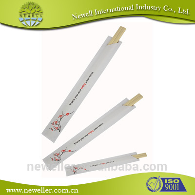 2014Wholesale half various packing disposable bamboo chopsticks use molasses specification