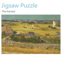 1000 pieces 2D puzzle game - famous drawings