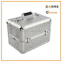 stylish hard cosmetic case empty beauty box aluminum ABS makeup case