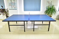 blue collapsible table tennis table dimensions