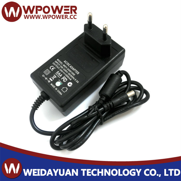 24V 1A 24W Plug In AC To DC Switching Mode Power Supply Adapter