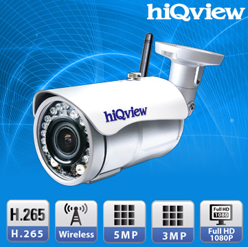 HIQ-6511 Wireless 5 Megapixel H.265 Outdoor WeatherProof IP Camera