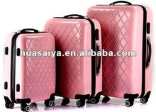 2012 Fashion Design and Colorful Transparent Clear Super Light Four Wheels PC Trolley case