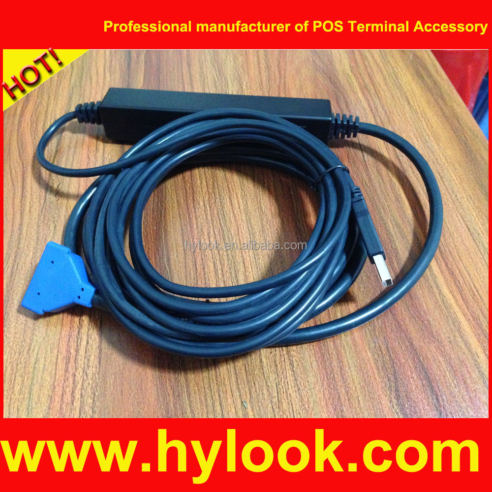 VeriFone Mx870 Mx 830 Ethernet USB Cable 23741-02-R Blue