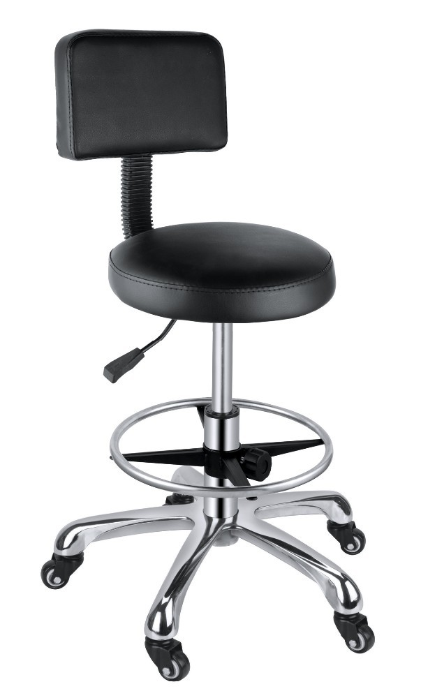 Leather Swivel High Chair General Use Salon Chair Home Bar Stool