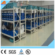 slotted angle storage steel shelving duty rack for fabrics