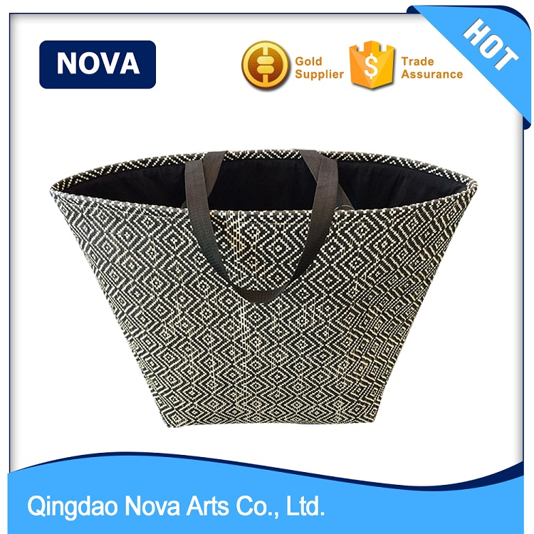 Good quality big laundry burlap storage basket and bin