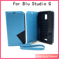 Strong Magnetic mobile phone case flip cover wallet case for Blu studio G Flip case many color for Blu studio G