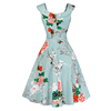 Yihao Retro Vintage 1950s 60s Floral Print dresses women summer for party wear