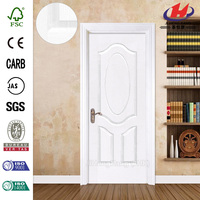 JHK-003 Cheap 3 Panel Solid Core Wood White Interior Door