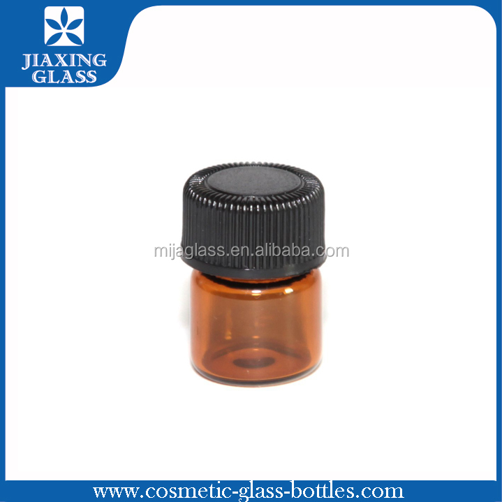 Amber Tubular Glass Vials 2ml 5ml 8ml 10ml Small Cosmetic Vials With Lids