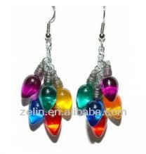fashion light bulb flashing christmas earring