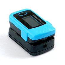 Fingertip Pulse Oximetry Digital Finger pulse oximeter, blue color