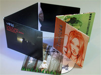 6panel wallet cardboard cd sleeve with CMYK or pantone printing