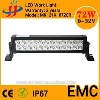 CE ROHS IP67 bright light cheap 72w led light bars for trucks light bar SUV/Jeep/Wrangler/ATV/Car