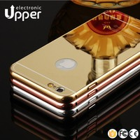 Best quality hybrid aluminum cell phone cover gold mirror mobile case for iphone 7