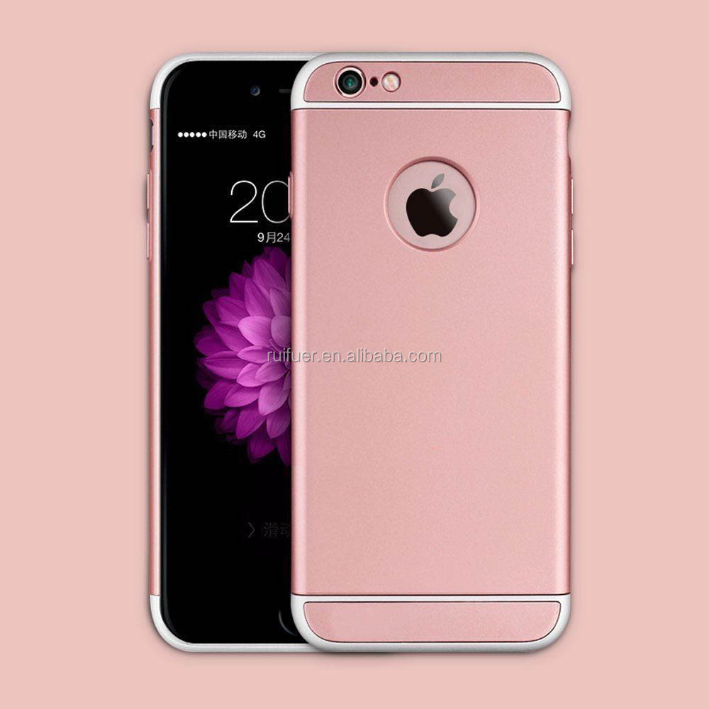 2016 New Arrive Rose Gold 3 in1Detachable Mobile Phone Ultra-thin Shockproof Armor Back Case Cover for Apple iPhone 6 6S Plus