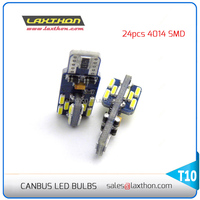 High quality 16V T10 24SMD 4014 canbus led light with stable current