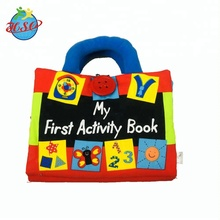 Custom Colorful Printed Baby Book Cloth Educational Toys Kids Books