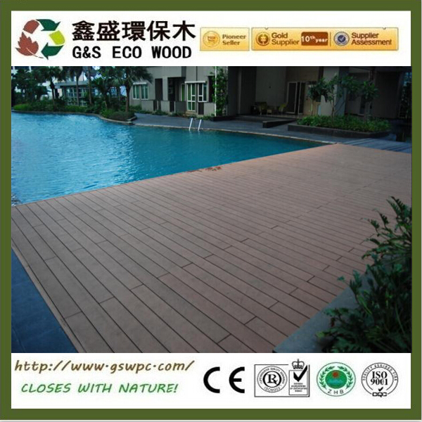 140X25MM WPC Wood Plastic Composite Outdoor Decking Floor Tile Good Quality Home Garden wpc Timber Decking board waterproof