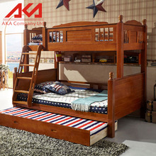 Classical Kids Double Bed Wooden Kids Bunk Bed for School Use or for Mother and Child Use