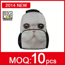 Lower MOQ Free Sample Lovely Dog School Backpack Bag,Dog Print Backpack,High School Backpack
