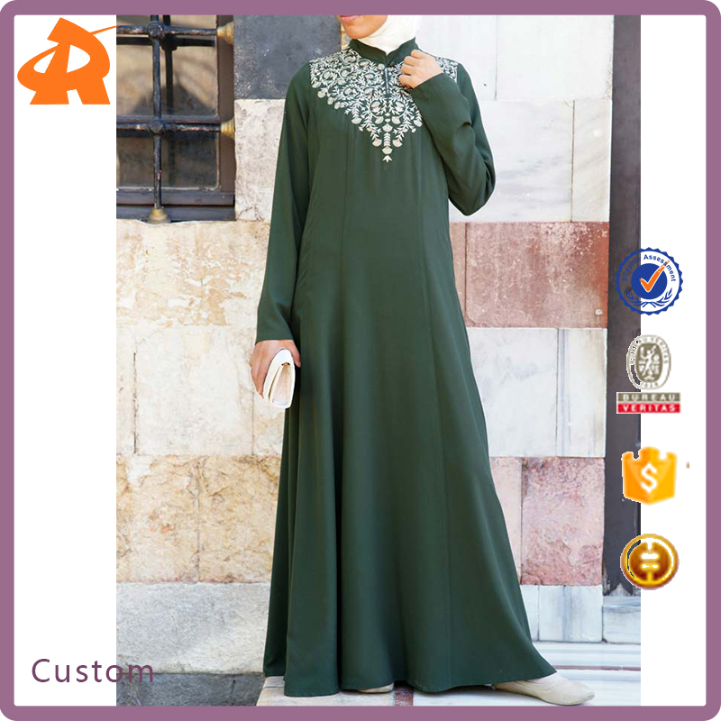 New Arriving Islamic Womens Clothing Flower Vine Embroidered Dubai Abaya Online Shopping