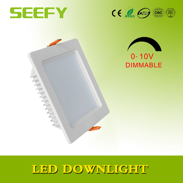 Square Undershelf 18w LED Downlight - 24V LED square flat downlight warm light