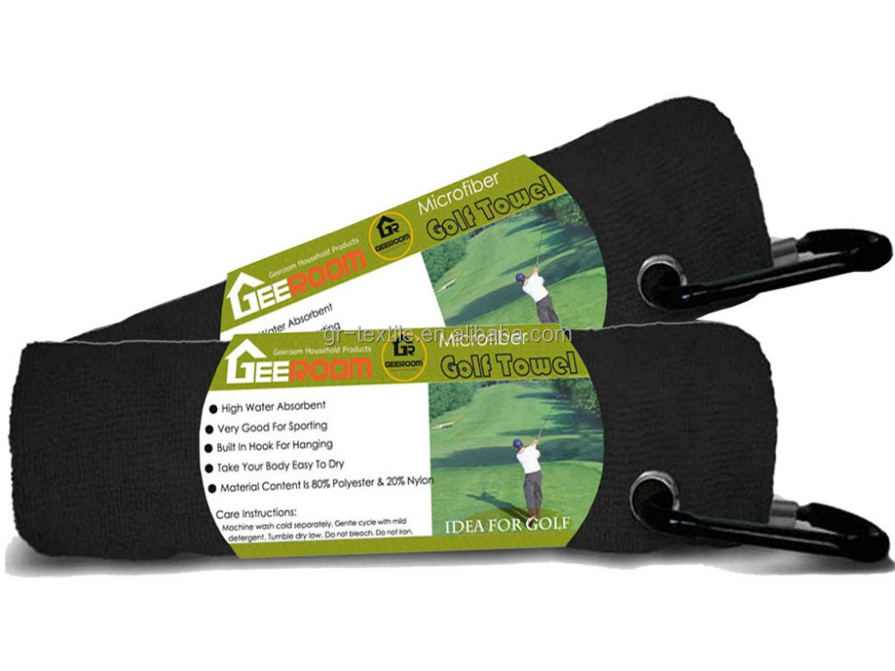 Hot sell cheap Promotional embroidered different color microfiber personalized sports golf wipe towels