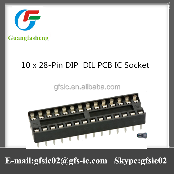 Hot sale 10 x 28-Pin DIP / DIL PCB IC Socket