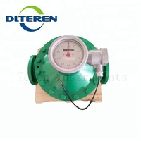 Cast iron RS485 type oval gear diesel flow meter
