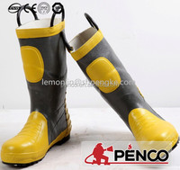 Professional fireman working boots water and heat resistant fire proof boots
