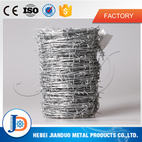 cheap and fine hot dipped galvanized barbed wire in roll from china supplier