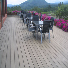WPC decking tiles Solid and grooved waterproof garden wpc deck board