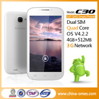 Best Hot Selling Model OMES M3 C30 Cheap 5MP Cam 5inch Quad Core MTK6582 5 inch android cellphone