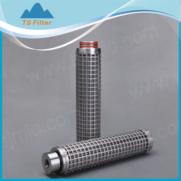 High Efficiency Stainless Steel Mesh Pleated Filter Cartridges/ SUS316 Powder Sintered Metal Filter