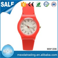 Hight quality fashion waterproof red silicone strap japan movt watches kids