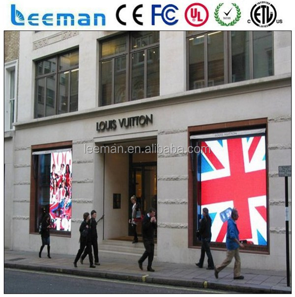 Leeman Group Glass window curtain led display / PC material transparent <strong>screens</strong>