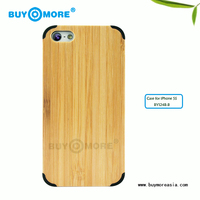 Hot Sale Natural Bamboo Phone Case for Iphone 5 5s Factory Directly Sale--smart PC Bamboo Case for Apple iPhone 5s