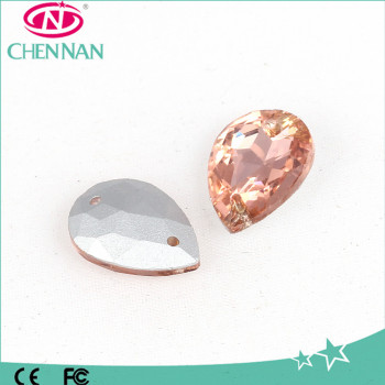 Pujiang Jewelry Accessories Glass drop Rhinestone Sew On for decoration Wholesale