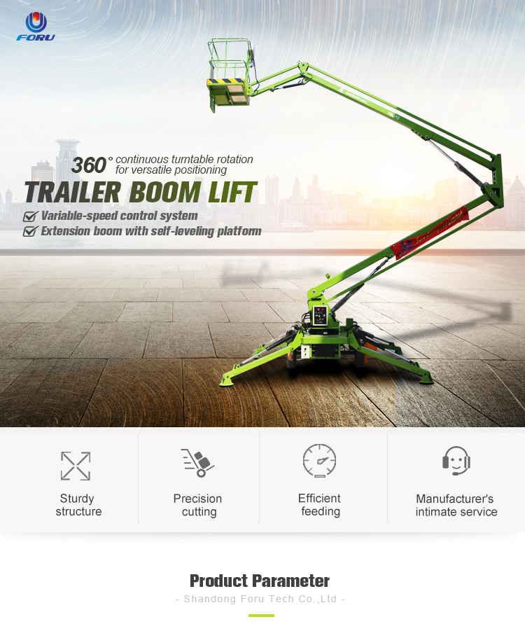 Best price folding electric powered towable spider boom lift
