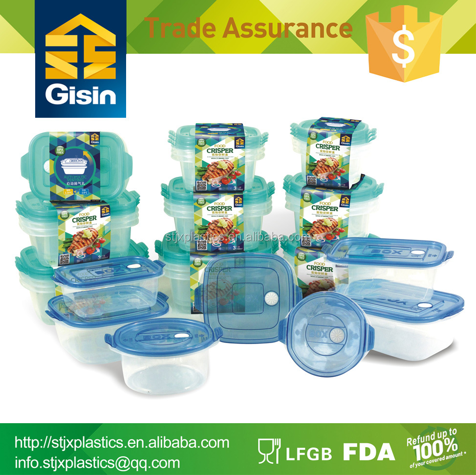 cheap vented plastic food container with lid