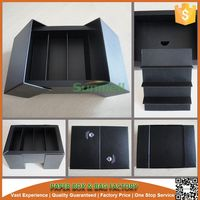Matt black printed paper box,custom cake slice packaging gift box