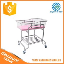 Factory promotions stainless teel Adjustable Hospital Baby Cribs