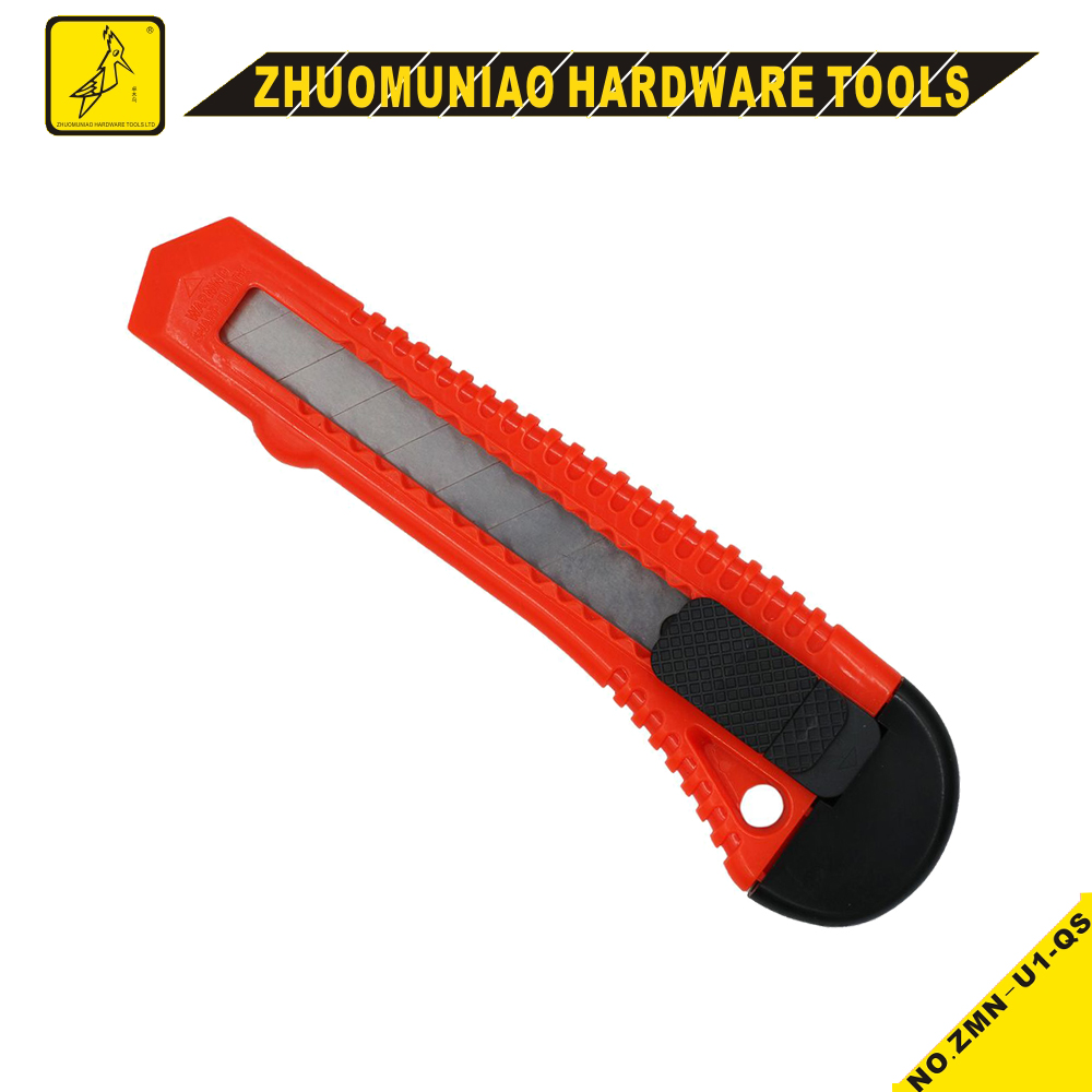 Industrial Paper Cutter Plastic Box Cutter Safety Utility Knife Cutter Knife Manufacturer Tools Utility Knife