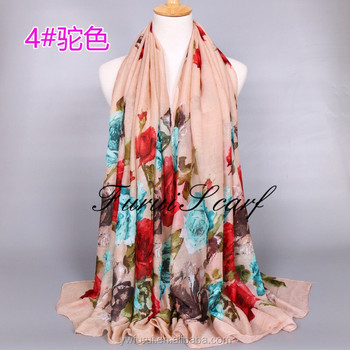 New Hijab Scarf Foulard Female Fashion Ethnic Voile Thin Long Prints Scarves
