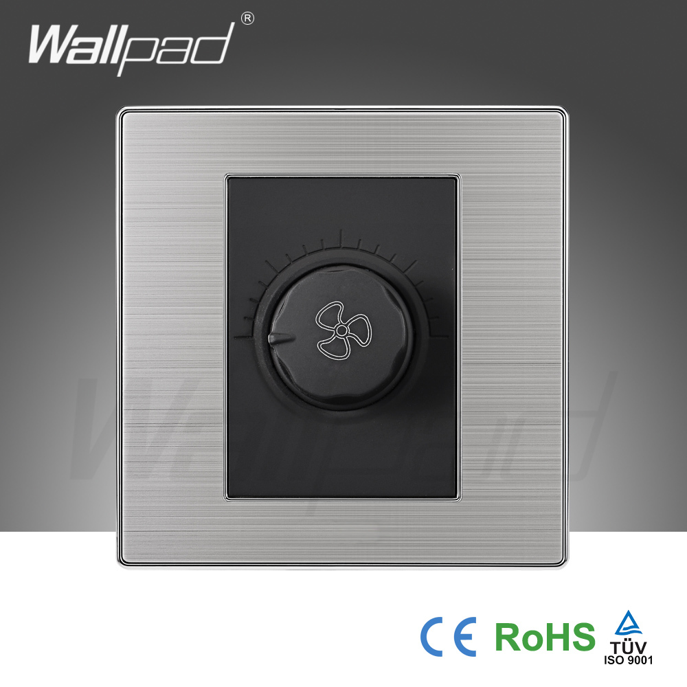 2015 China Hot Sale Wholesaler Wallpad Luxury Wall Light Switch Panel Ceiling Fan Switch Speed Regulator